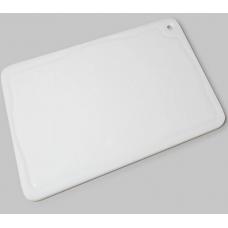 Placa De Corte Branca Com Canaleta 30x50 Pronyl -  ref 160