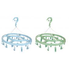 Mini-varal Oval 24 Prendedores MOR Cores Sortidas - ref 6094