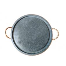 Grelha Grande Chapa Carne Pedra Sabão 32cm - ref 16824